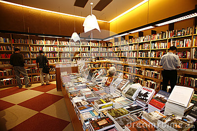 Modern bookstore Editorial Stock Image