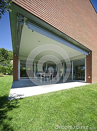Modern brick house