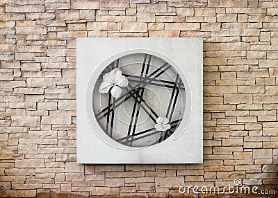 Modern brick stone wall