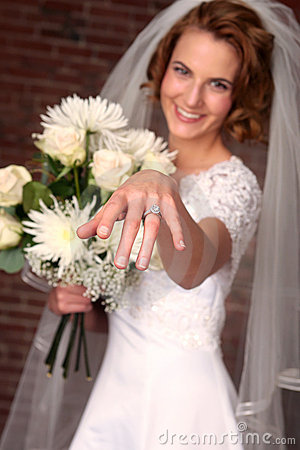 Modern Bride With Brick Background