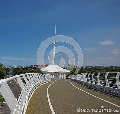 Modern Bridge for Cyclists
