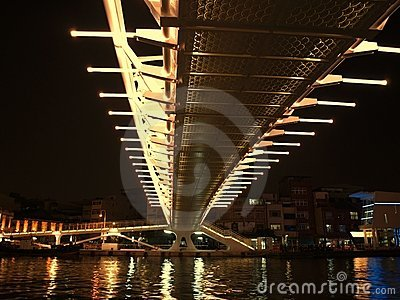 Modern Bridge by Night