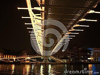 Modern Bridge by Night