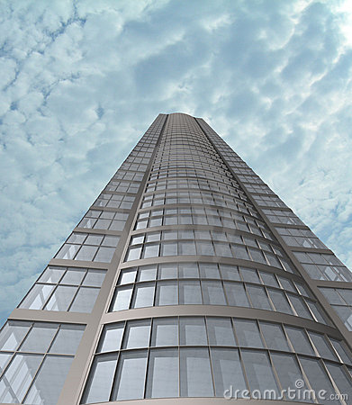 Modern building (3D).