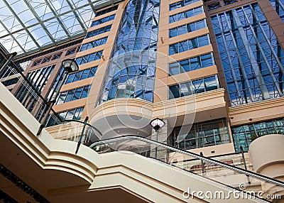 Modern building with atrium