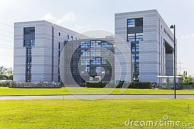 Modern building in cern