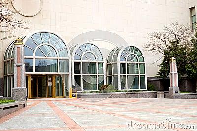 Modern building entrance