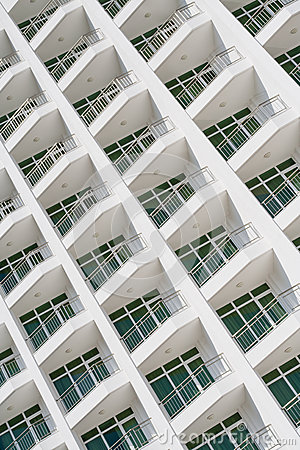 Free Modern Building Facade, Balconies Royalty Free Stock Photography - 37740487
