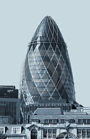 This is a modern building in London