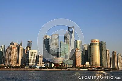 Modern building in lujiazui of shanghai Editorial Photo