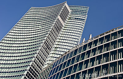 Modern building: new palazzo Lombardia in Mila Editorial Stock Image