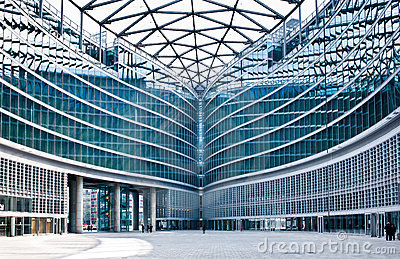Modern building: new palazzo Lombardia Milan Editorial Stock Photo