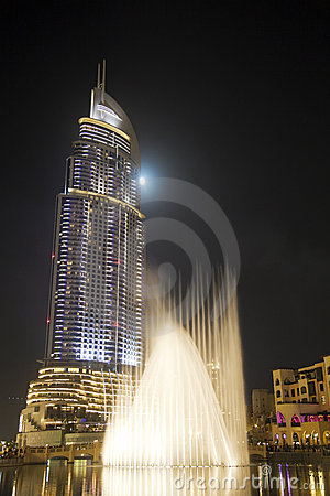 Modern Building at Night, Dubai, UAE