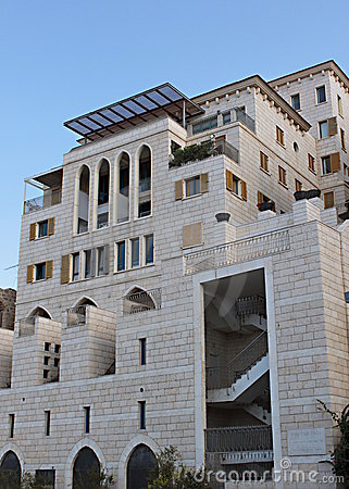 A modern building in old Jaffa