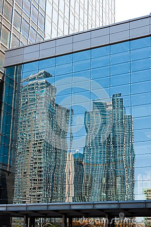 Modern building reflection