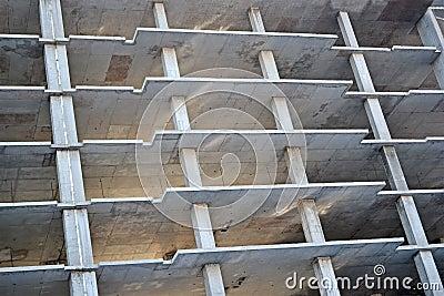 Modern building site, armature construction,