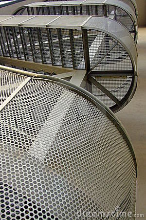 Modern building staircase