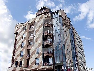 Modern building, urban.