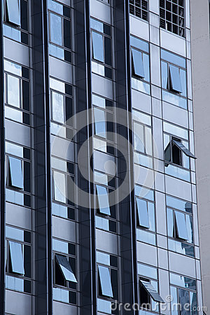 Modern Building  Window Gray Open