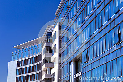 Modern buildings architecture of Olivia Business Centre Editorial Photography