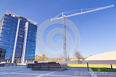 Modern buildings architecture of Olivia Business Centre Editorial Image