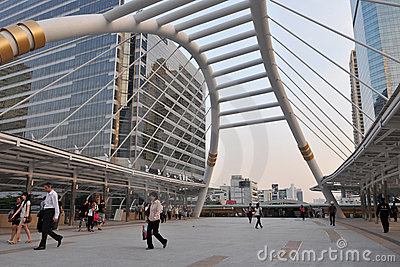 Modern Buildings in Bankok s Financial District Editorial Image