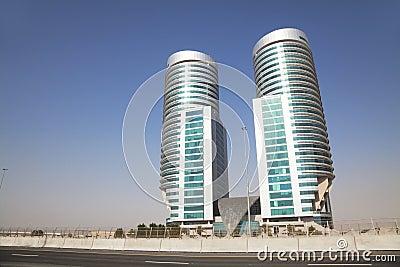 Modern Buildings in the Desert, Dubai, UAE