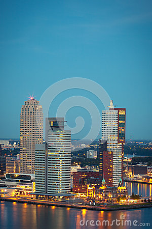 Modern buildings in Rotterdam, the Netherlands