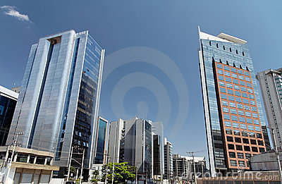 Modern Buildings in Sao Paulo