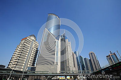 Shanghai Lujiazui business and financial center Editorial Stock Photo