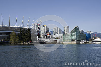 Modern buildings Vancouver Editorial Image
