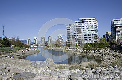 Modern buildings Vancouver Editorial Stock Image