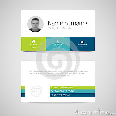 Free Modern Business Card Template With Flat User Interface Royalty Free Stock Photo - 33212265