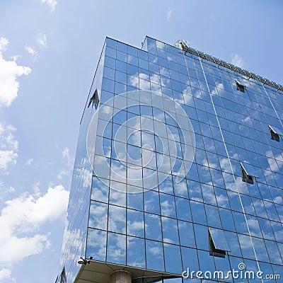 Modern business glass building