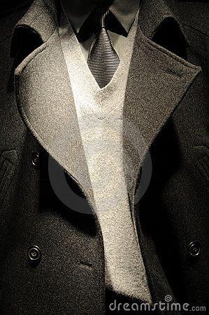 Modern business man suit with tie