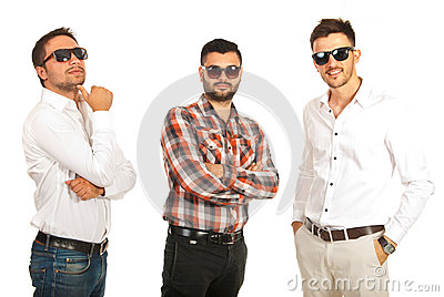 Modern business men with sunglasses