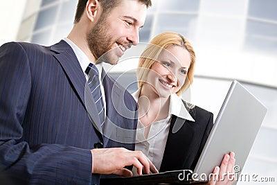 Modern business people