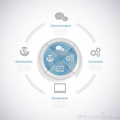Modern business vector illustration infographic op