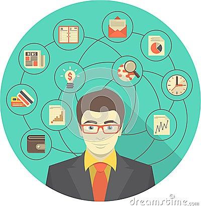 Modern Businessman Concept