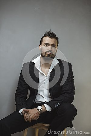 Free Modern Businessman. Confident Man In Suit. Royalty Free Stock Photography - 144734167