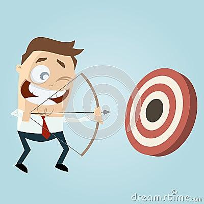 Free Modern Businessman With Archery Bow Stock Photo - 56692410