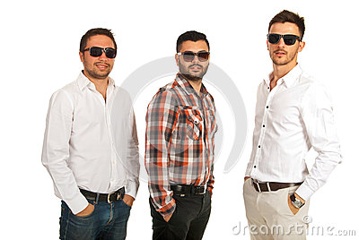 Modern businessmen with sunglasses
