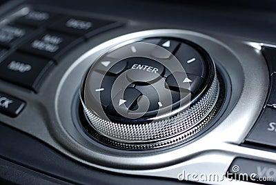 Modern car interface.