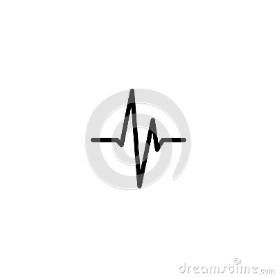 Free Modern Cardiogram Line Icon. Royalty Free Stock Images - 102603279