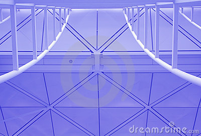Modern Ceiling Canopy Stock Photo