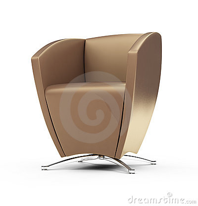 Modern chair against white