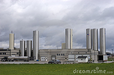 Modern Cheese Factory Industrial Plant