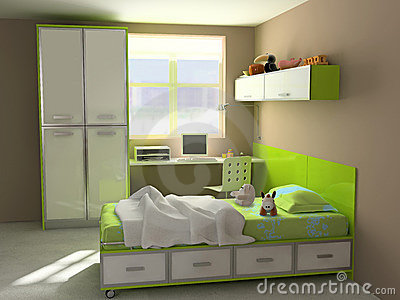 Modern child-room interior