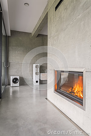Free Modern Chimney In A Wall Stock Photos - 98767703