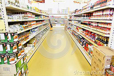 Modern Chinese Grocery Shop Editorial Photo